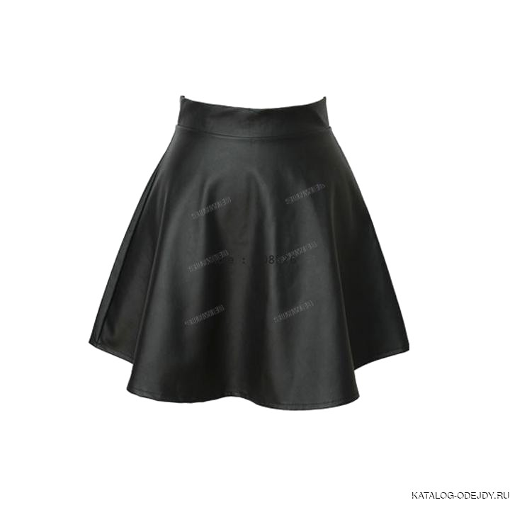 Womens Black Leather Skirt
