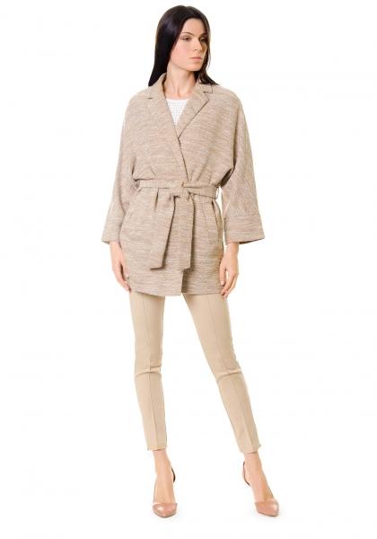 трикотажное женское пальто фото