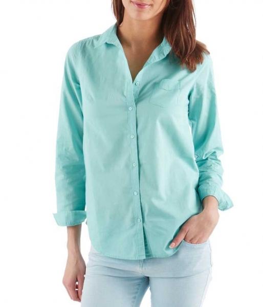 b6adea32e9f Классическая бирюзовая женская рубашка