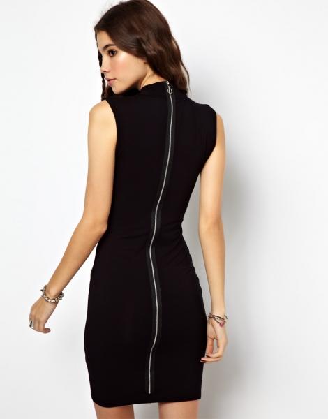 Платье с молнией на спине по всей длине 2017