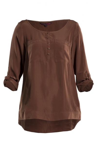Коричневая женская блузка
