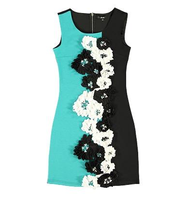 Платье modis голубого и черного цвета с