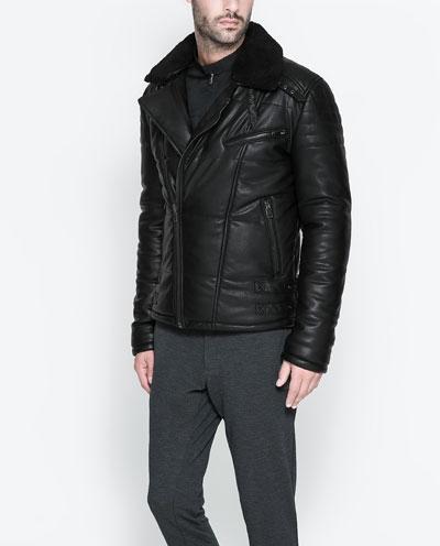 Мужские Кожаные Куртки Zara