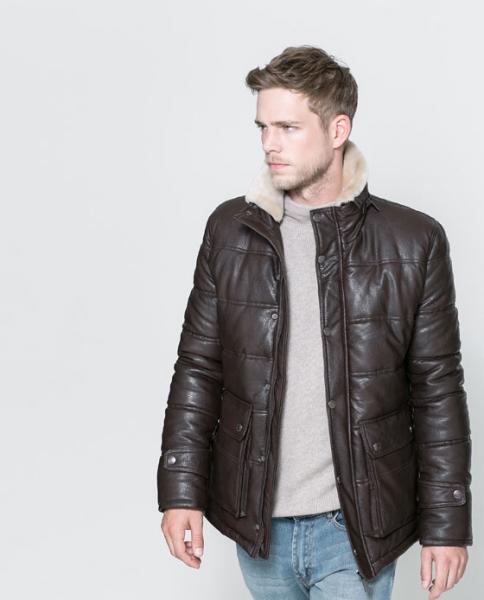 f39522bc2f8 Мужская куртка Zara коричневая облегченная