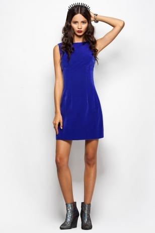 Концепт синее платье